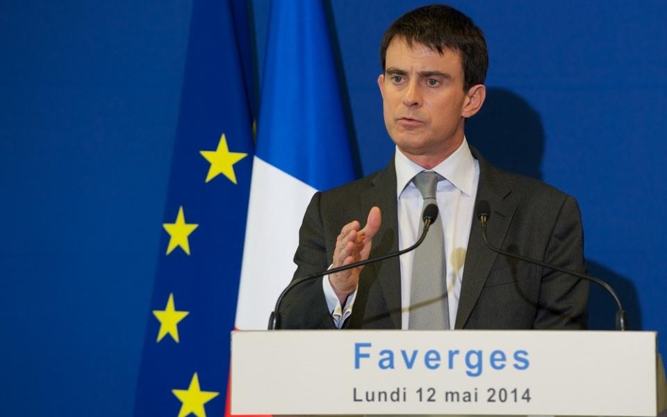 Manuel Valls s'adresse aux salariés de Staübli