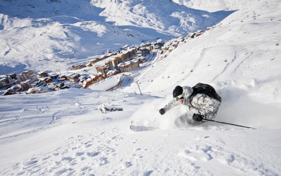 Sports d'hiver dans les Alpes