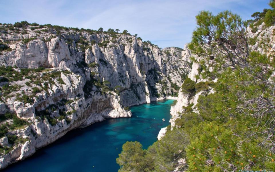 Les Calanques vers Marseille, Cassis et la Ciotat