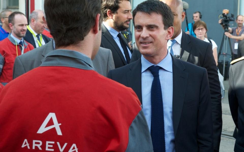 Manuel Valls rencontre les salariés du site d'Areva - Le Creusot.