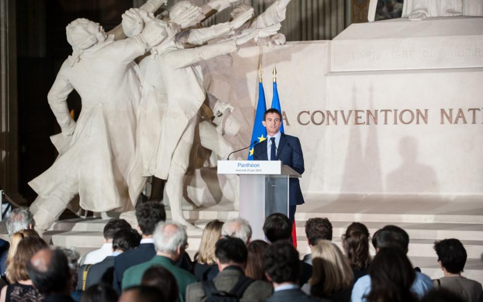 """Discours de Manuel Valls à l'occasion de l'inauguration de Manuel Valls visite l'exposition """"Jaurès contemporain 1914 – 2014""""."""