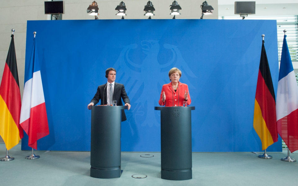 Conférence de presse conjointe du Premier ministre et de la Chancelière Angela Merkel