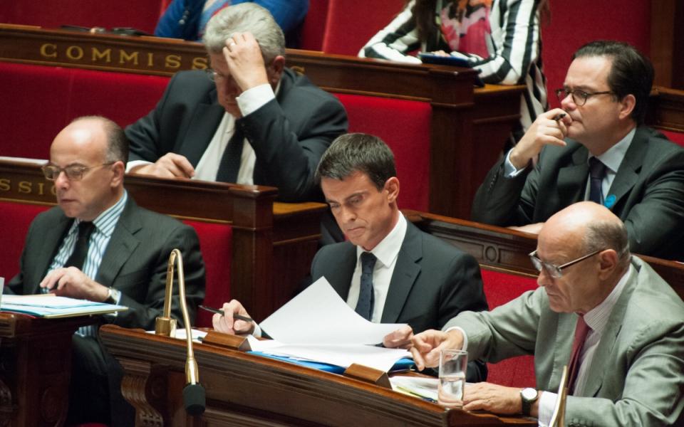 Le Premier ministre lors du débat à l'Assemblée nationale