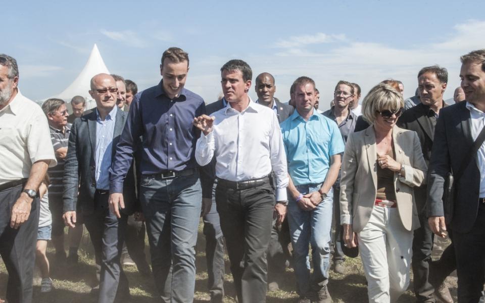 """Manuel Valls à Saint-Jean-D'Illac à l'évènement organisé par les Jeunes Agriculteurs """"Les terres de Jim"""""""