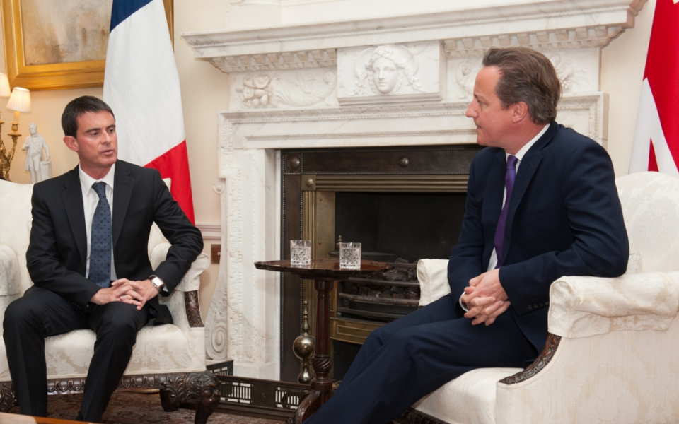 Entretien de Manuel Valls avec son homologue David Cameron