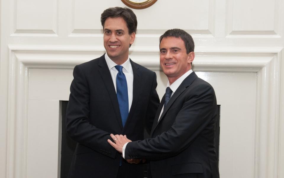 Entretien de Manuel Valls avec Ed Miliband, chef de l'opposition britannique