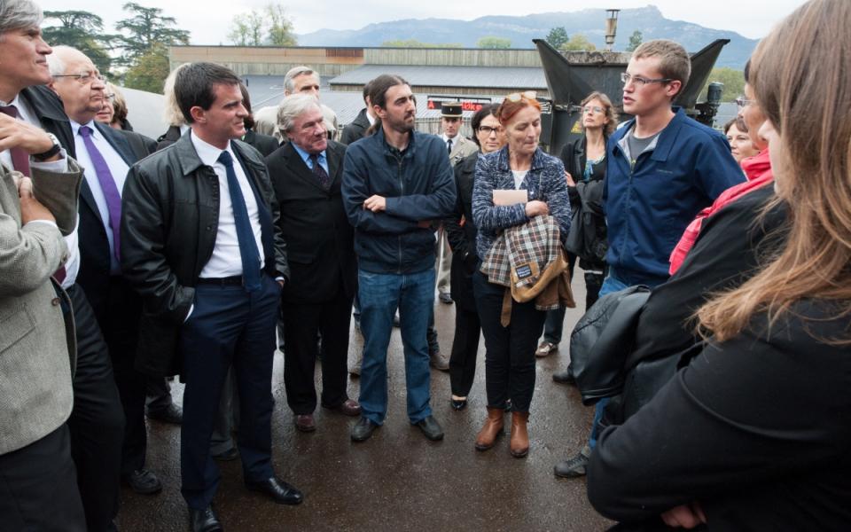 Manuel Valls rencontre les élèves du lycée agricole de Reinach