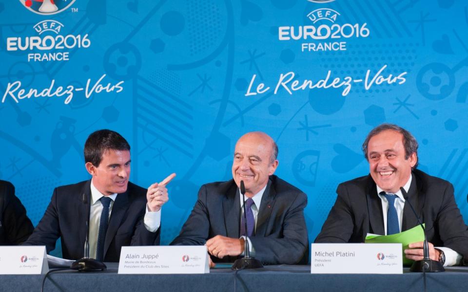 Manuel Valls, Alain Juppé et Michel Platini