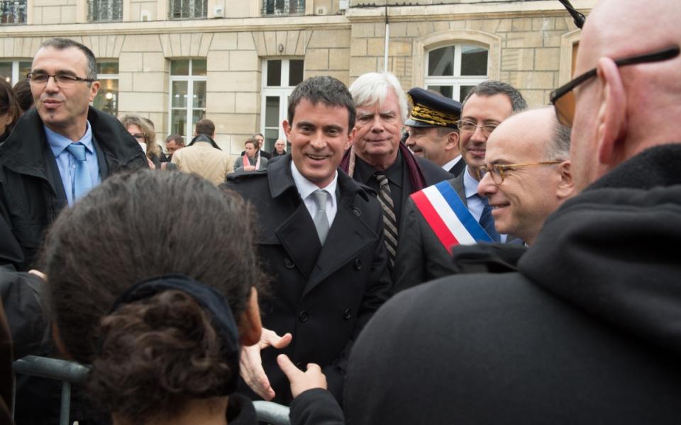 Arrivée de Manuel Valls à la mairie de Chambly