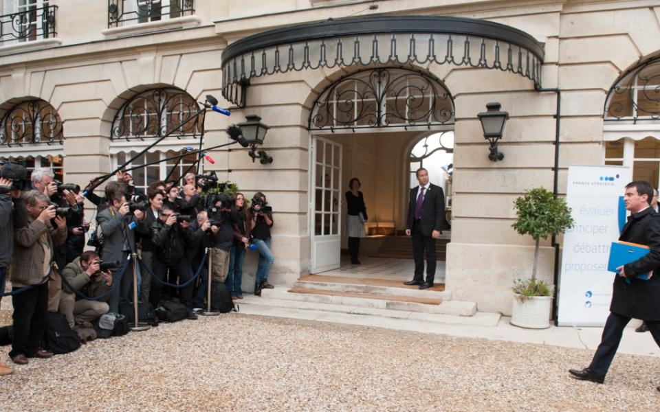 Arrivée de Manuel Valls au Commissariat général à la stratégie et à la prospective