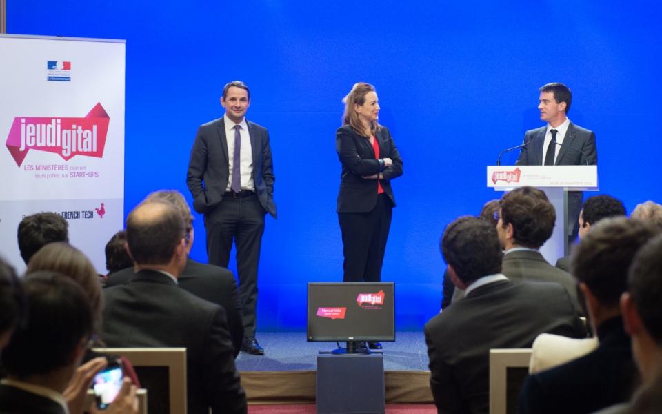 Manuel Valls, Thierry Mandon et Axelle Lemaire lors de la 3e édition du #Jeudigital