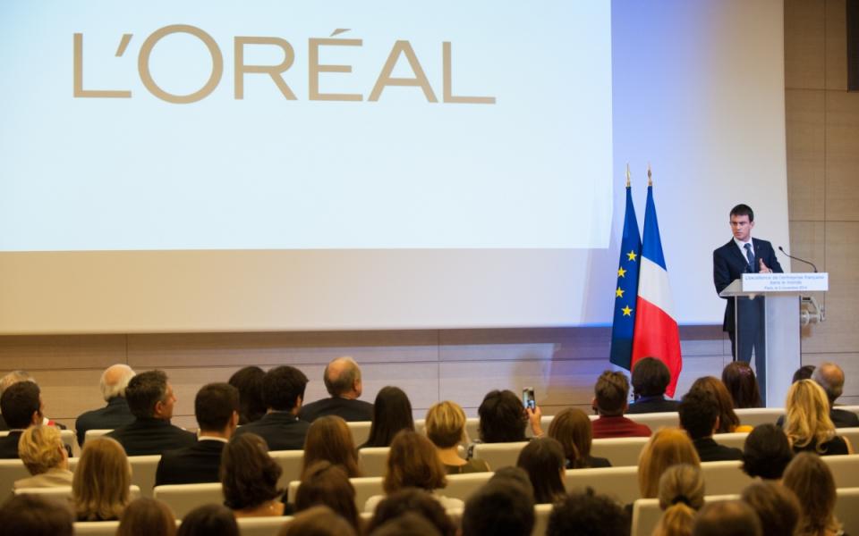 Allocution de Manuel Valls devant les salariés de L'Oréal