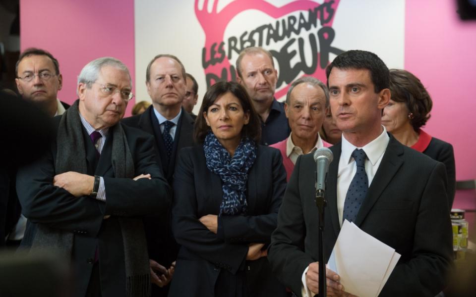 Manuel Valls au lancement de la 30e campagne des Restos du coeur