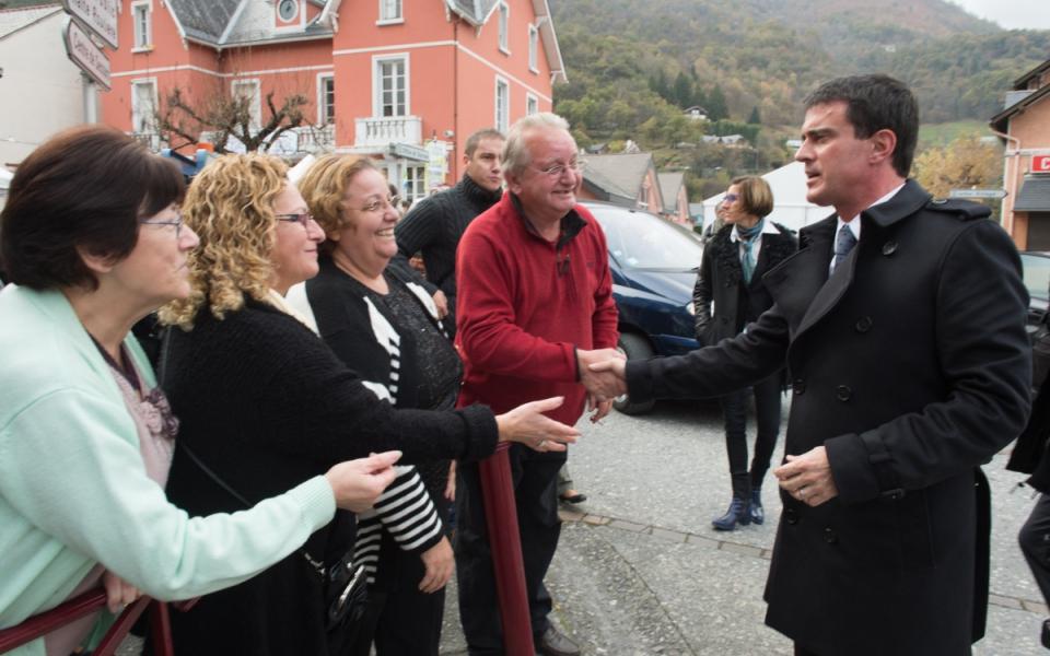Arrivée de Manuel Valls dans les Hautes-Pyrénées