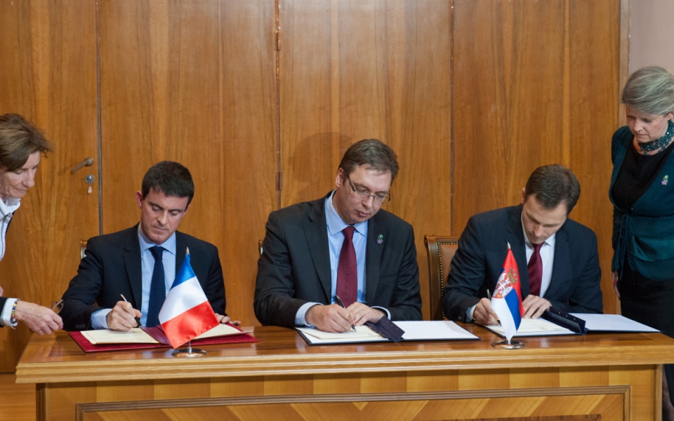 Cérémonie de signature d'accords bilatéraux