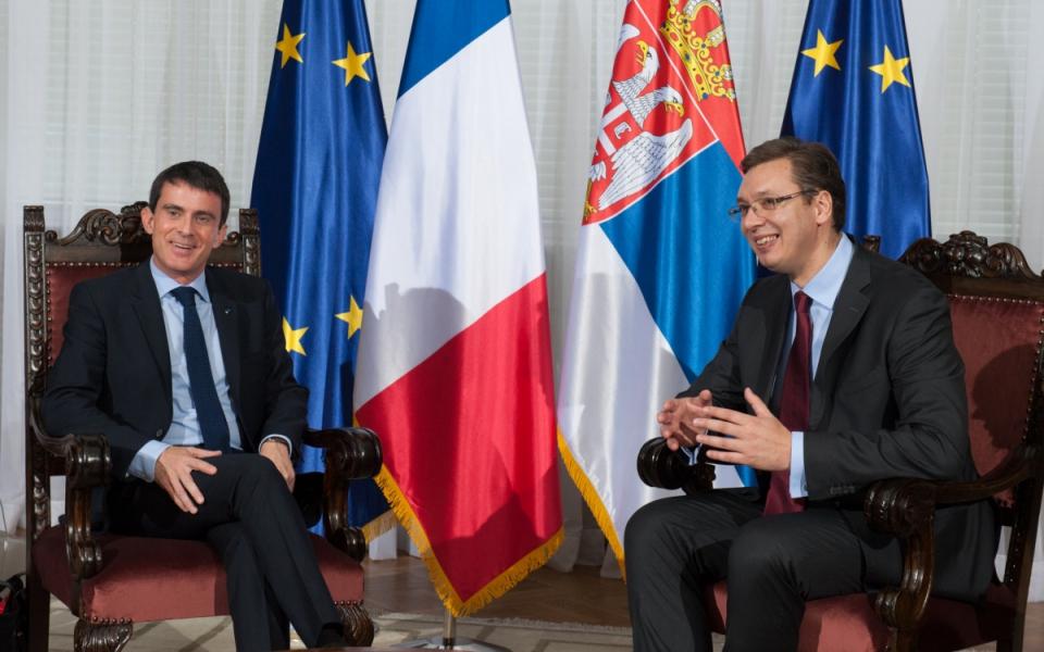 Entretien de Manuel Valls avec Aleksandar Vučić, Premier ministre de la République de Serbie
