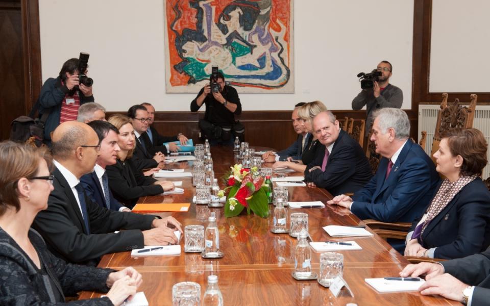 Réunion avec le président serbe