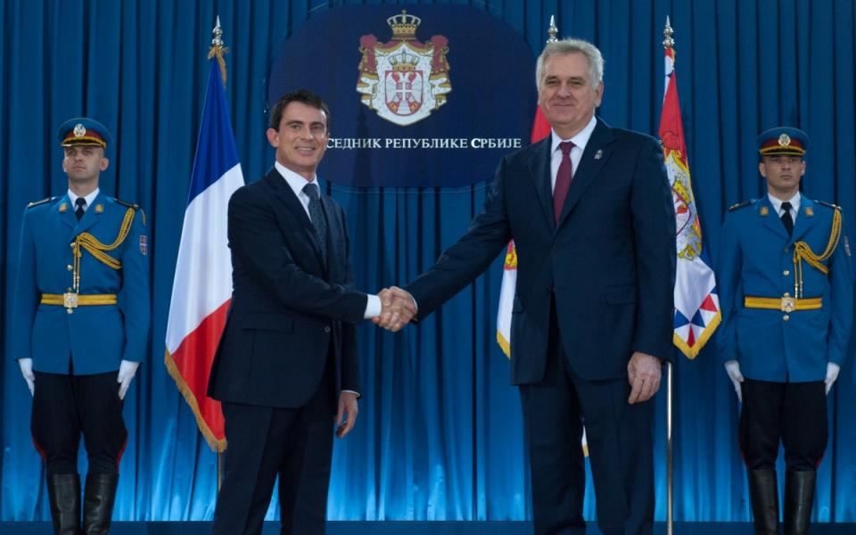 Entretien de Manuel Valls avec Tomislav Nikolić, président de la République de Serbie