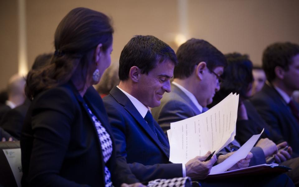 Manuel Valls lors de la clôture de la Conférence environnementale