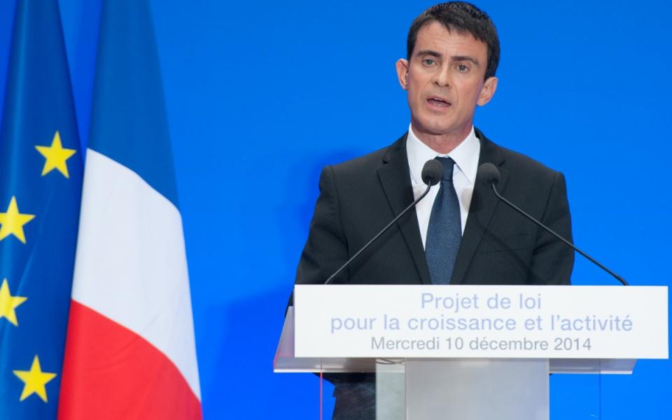 Manuel Valls lors de la conférence de presse sur le projet de loi pour la croissance et l'activité