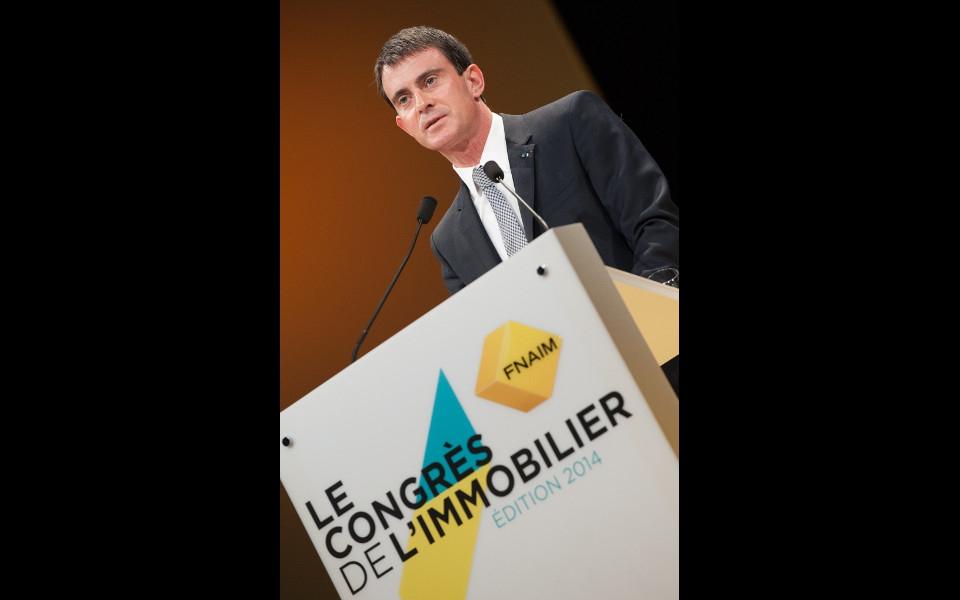Manuel Valls lors du discours d'ouverture du 67e Congrès de la FNAIM