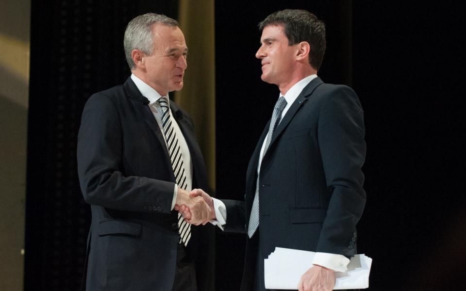 Manuel Valls et Jean-François Buet, président de la FNAIM