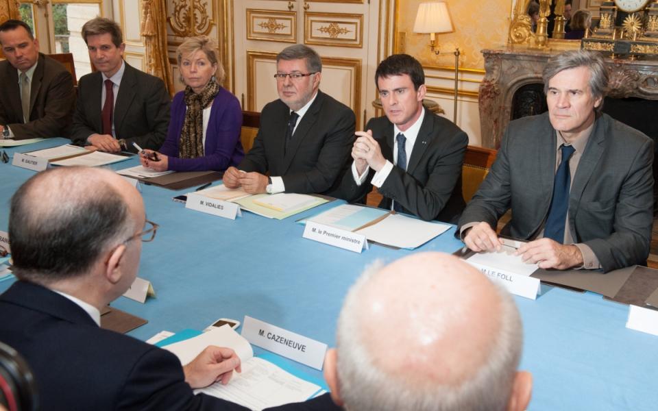 Manuel Valls préside la réunion interministérielle sécurité