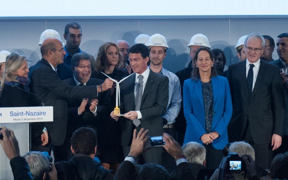 Manuel Valls sur le site d'Alstom