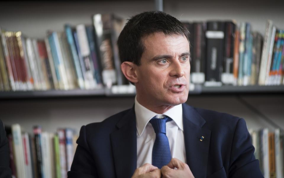 Manuel Valls au collège Jean Moulin de Pontault-Combault