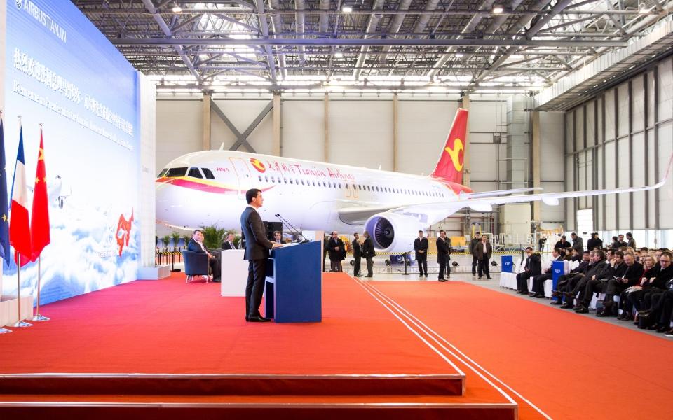 Allocution de Manuel Valls lors de la visite de l'usine d'assemblage Airbus à Tianjin