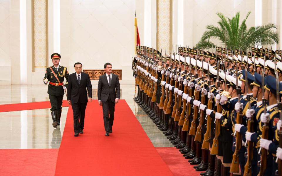 Cérémonie officielle d'accueil, Grand Palais du peuple à Pékin