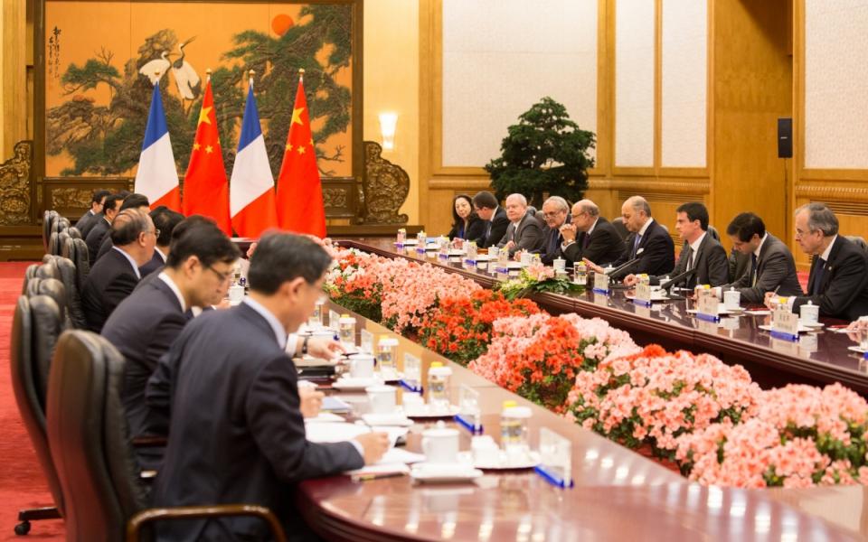 Entretien de Manuel Valls avec Li Keqiang, Premier ministre de la République populaire de Chine