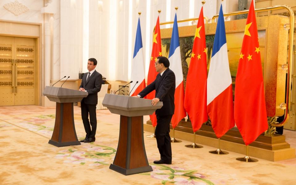 Conférence de presse conjointe de Manuel Valls et Li Keqiang