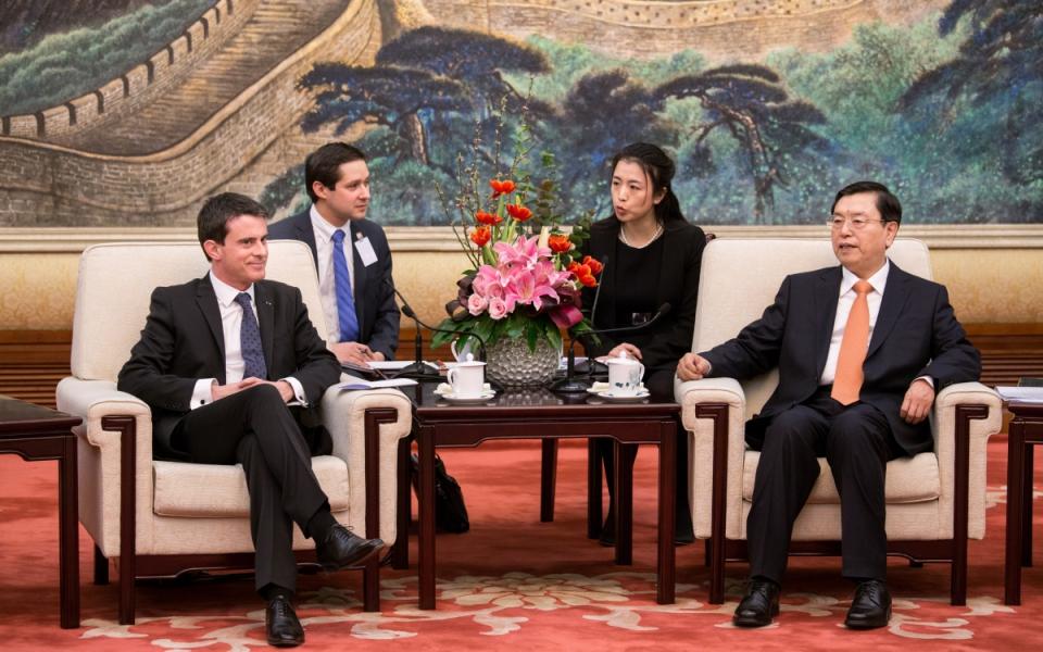 Manuel Valls s'est entretenu avec Zhang Dejiang, président de l'Assemblée Nationale Populaire