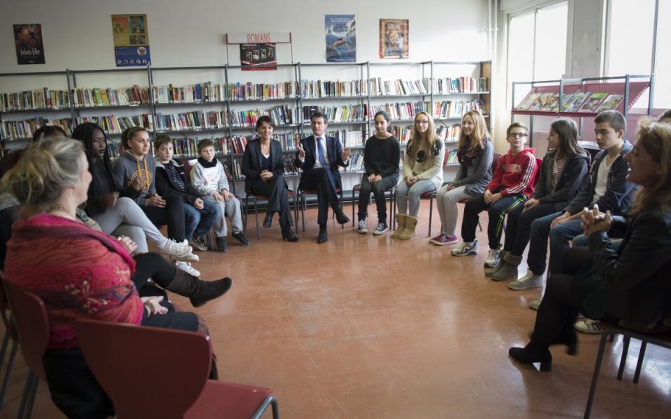 Temps d'échange avec les élèves membres du Conseil de la vie collégienne