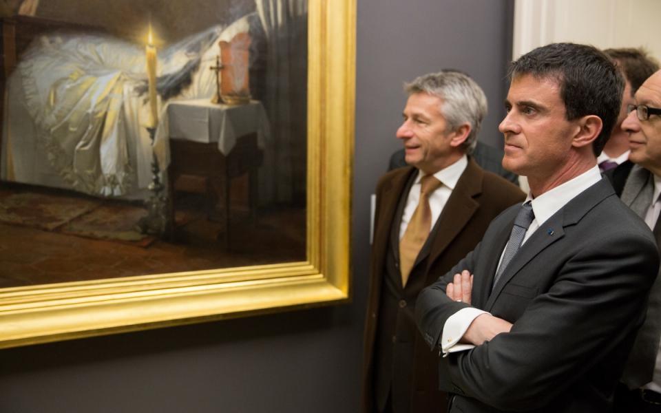 Manuels Valls visite le musée des beaux-arts de Rouen