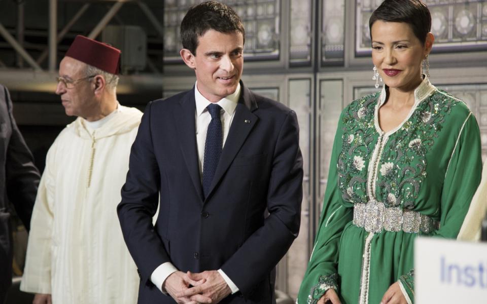 Manuel Valls et la princesse Lalla Meryem du Maroc lors de la cérémonie de remise de décorations