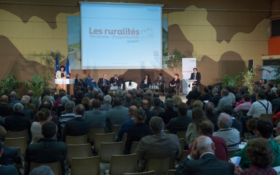 Le 20 novembre 2014, atelier sur les ruralités innovantes à Plélan-le-Petit (22) en présence de Sylvia Pinel, Marylise Lebranchu, Fleur Pellerin et Axelle Lemaire.