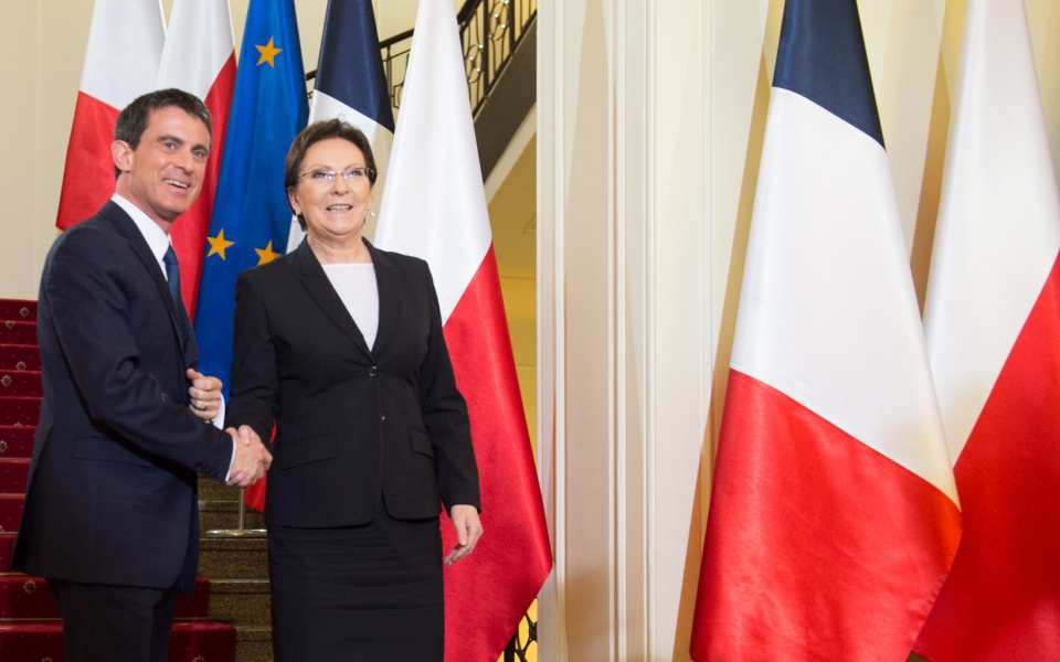Manuel Valls et son homologue polonaise, Ewa Kopacz