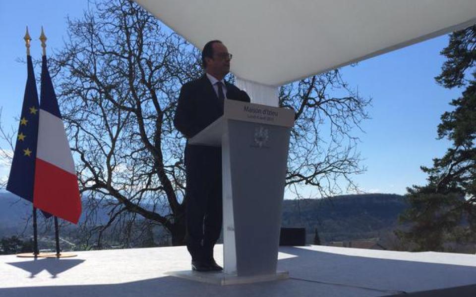 Discours de François Hollande à Izieu
