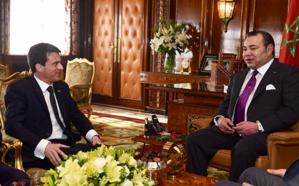 Manuel Valls et Mohammed VI, Roi du Maroc