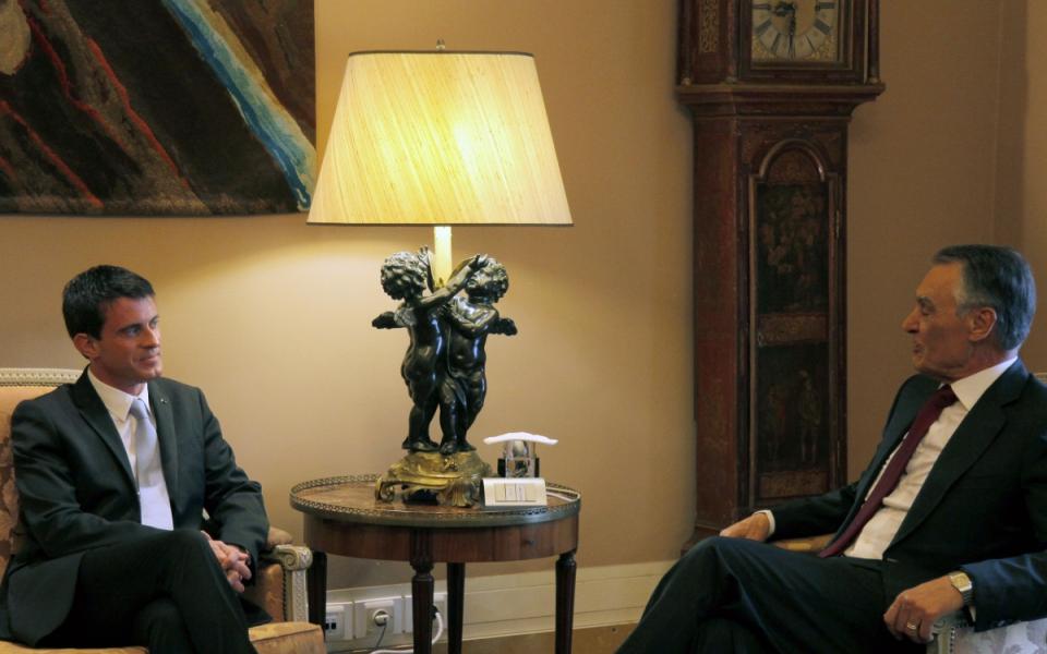 Entretien de Manuel Valls avec Anibal Cavaco Silva, président de la République portugaise