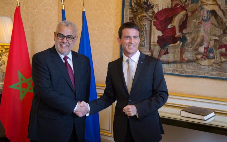 Manuel Valls et  S. Exc. M. Abdelilah Benkirane, chef du Gouvernement du Royaume du Maroc