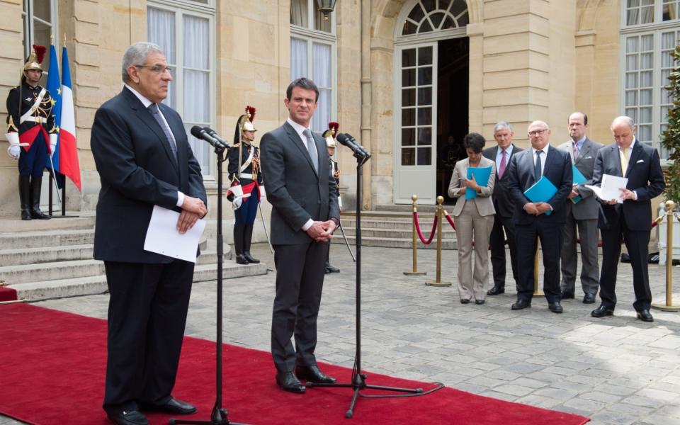Déclaration commune de Manuel Valls et Ibrahim Mahlab, Premier ministre de la République arabe d'Égypte