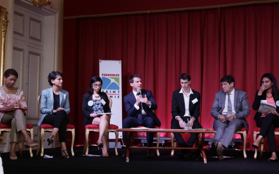 Manuel Valls aux rendez-vous territoriaux de la jeunesse à Saint-Denis