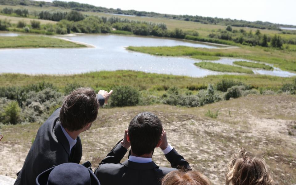 Manuel Valls visite le Parc de Marquenterre