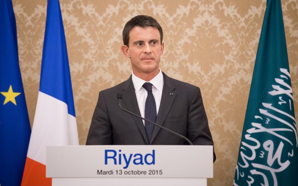 Conférence de presse de Manuel Valls à Riyad