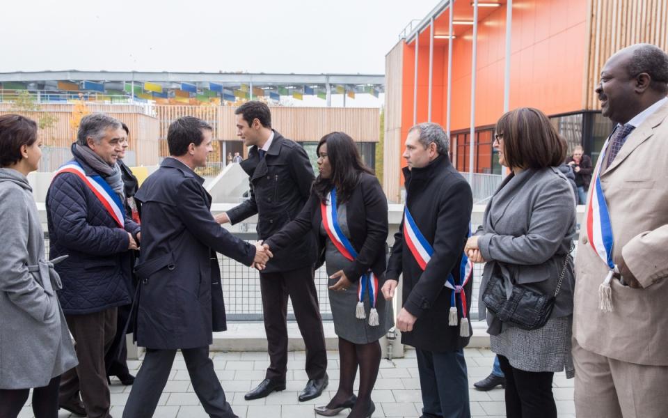 Accueil de Manuel Valls au Pôle Molière