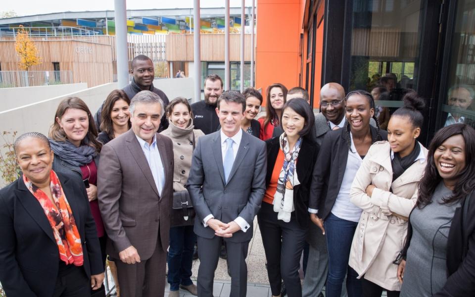 Manuel Valls au Pôle Molière des Mureaux