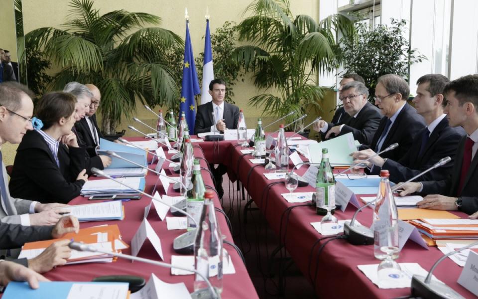Manuel Valls préside le Comité interministériel de la mer